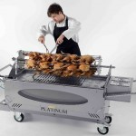 The Platinum Hog Roast Machine with server